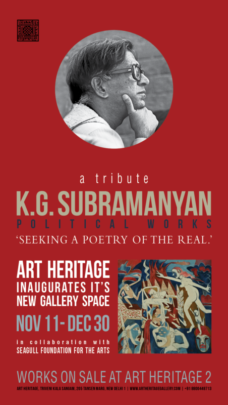 Seeking a Poetry of the Real: The Political Works of K. G. Subramanyan