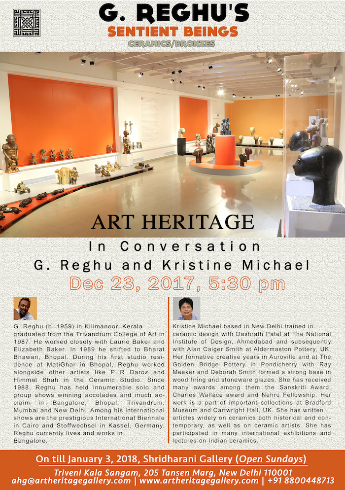'Sentient Beings' – An Exhibition of G. Reghu's Ceramic and Bronze Sculptures
